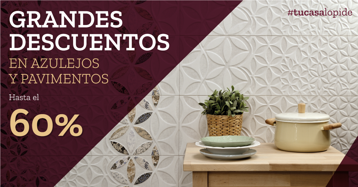 Tu casa lo pide grandes descuentos en azulejos y for Azulejos y pavimentos